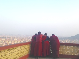 monks contemplating the view